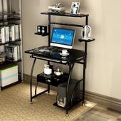 亿家达电脑桌 台式家用简约现代笔记本电脑桌简易书桌书架办公桌