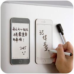 居家家手机型可留言擦写冰箱贴创意带笔软磁贴留言贴可反复擦写
