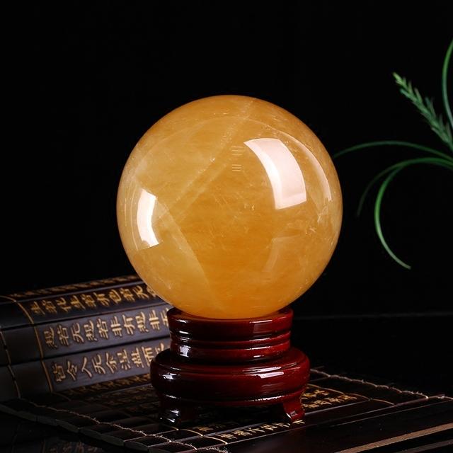 天然黄水晶球 占星八字事业运财运占卜预测专用