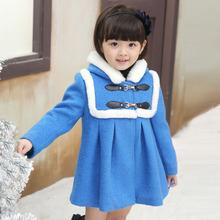 品牌童装2014秋冬新款韩版女童公主毛呢子大衣儿童加厚羊毛呢外套