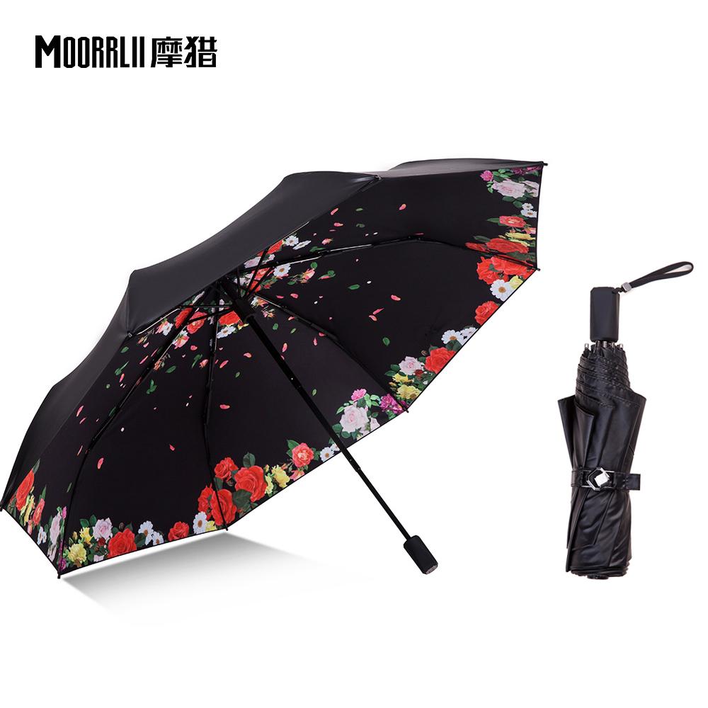 创意太阳伞紫外线晴雨伞防晒韩国两用小黑伞遮阳伞双层