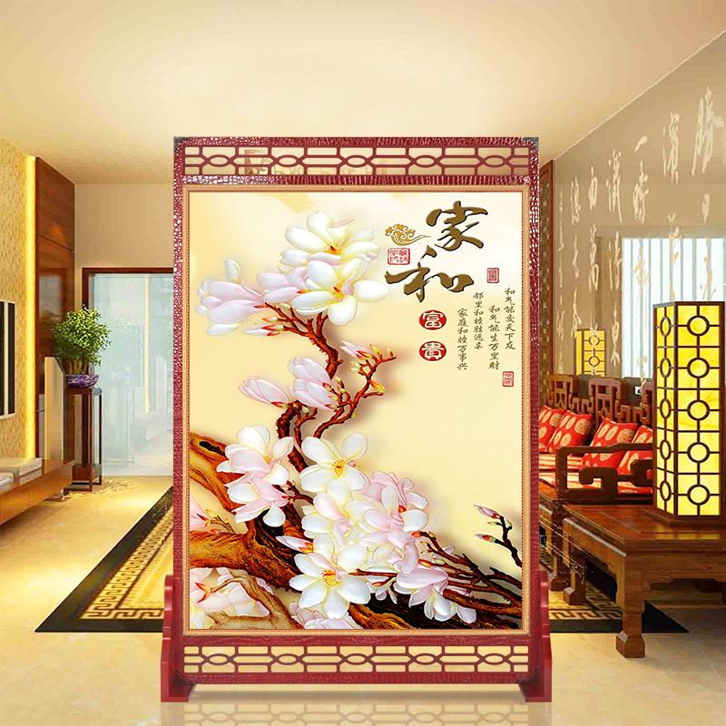 卧室屏风隔断时尚玄关客厅欧式简约现代中式酒店实木