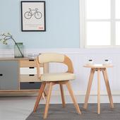 实木桌椅阳台休闲椅三件套茶几组合简约现代咖啡桌餐桌组合成套
