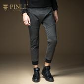PINLI 品立 春季新品时尚男装 修身小脚裤潮 九分裤男 休闲裤