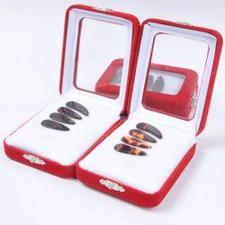 古筝指甲 义甲 合成材质盒装双弧型平面指甲图片