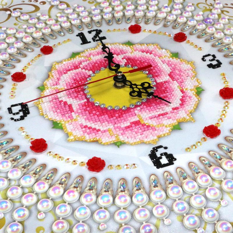 5d异形钻石画钟表贴钻石十字绣客厅现代简约卧室点砖石秀欧式新款