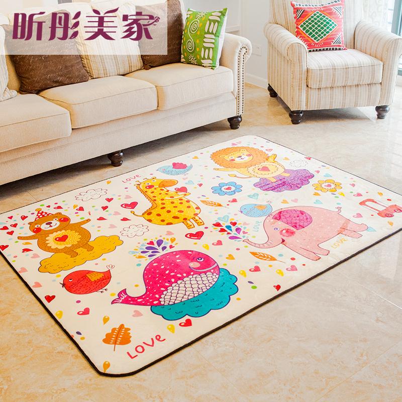 卡通地毯卧室床边毯宝宝可爱儿童