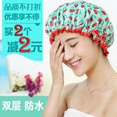 加大女士成人防水洗澡浴帽洗头帽厨房女士防油烟帽子 每时美家韩版