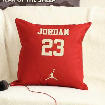 可爱图案棉含枕芯高品麻 舒适靠枕抱枕床上用品居乐依家纺 靠垫30