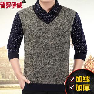 淘宝特卖 男装 t恤 > 冬季男士长袖加厚加绒t恤衬衫
