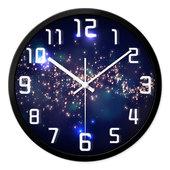 摩门挂钟客厅创意卧室静音圆形现代个性时尚简约时钟石英钟表挂表
