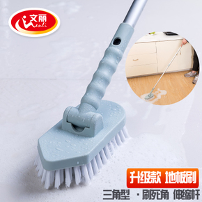 文丽浴室长柄刷子硬毛地板刷卫生间地刷浴缸刷瓷砖刷地板清洁刷