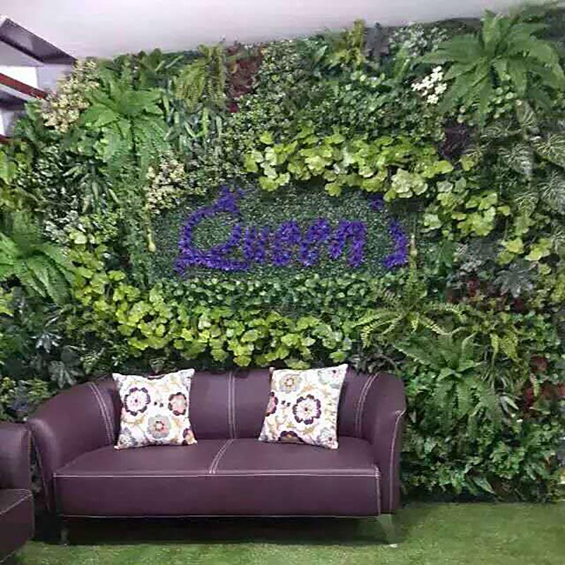 仿真植物墙绿色仿真花草坪地毯假草皮阳台塑料草装饰植物背景墙