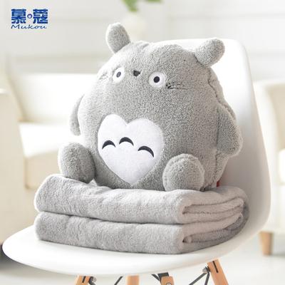 抱枕被子两用靠垫靠枕沙发办公室午休睡枕枕头可爱汽车抱枕空调毯