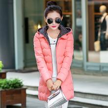 2016冬装新品韩版棉服 新款特价棉衣加厚女式修身中长款棉袄外套