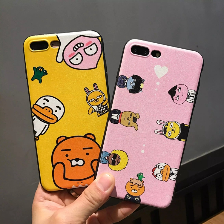 欧美可爱桃子小熊iphone6s手机壳i6p苹果7plus防摔边软保护套女款