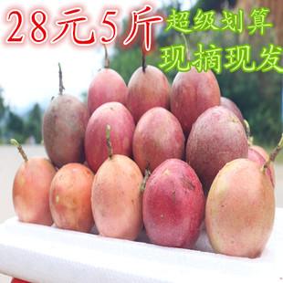 现货新鲜水果广西百香果西潘莲鸡蛋果5斤装中果一斤8-9个28元包邮