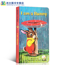 i am a bunny 我是一只兔子 名家 richard scarry作品 英文原版绘本 纸板童书 感受大自然之美 绚丽色彩 0-3岁启蒙宝宝阅读 不怕咬