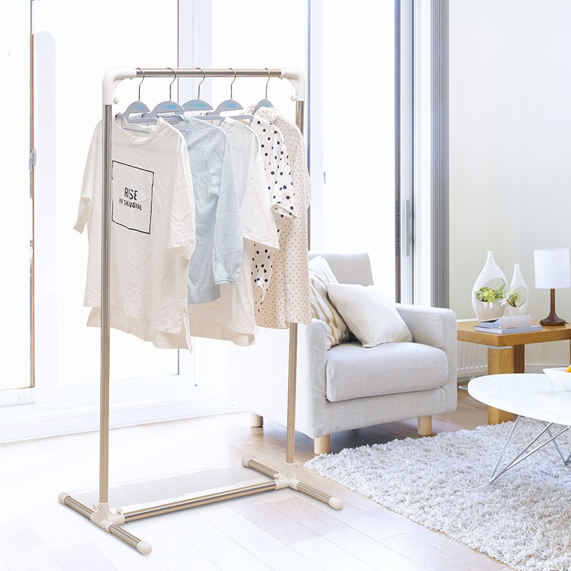 伸缩落地架子单干家用衣服阳台晾衣架室内不锈钢