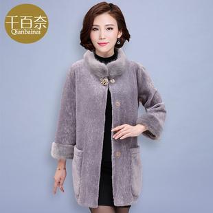 中老年人女装冬装中长款外套40-50岁妈妈装秋装大衣中年女装外套