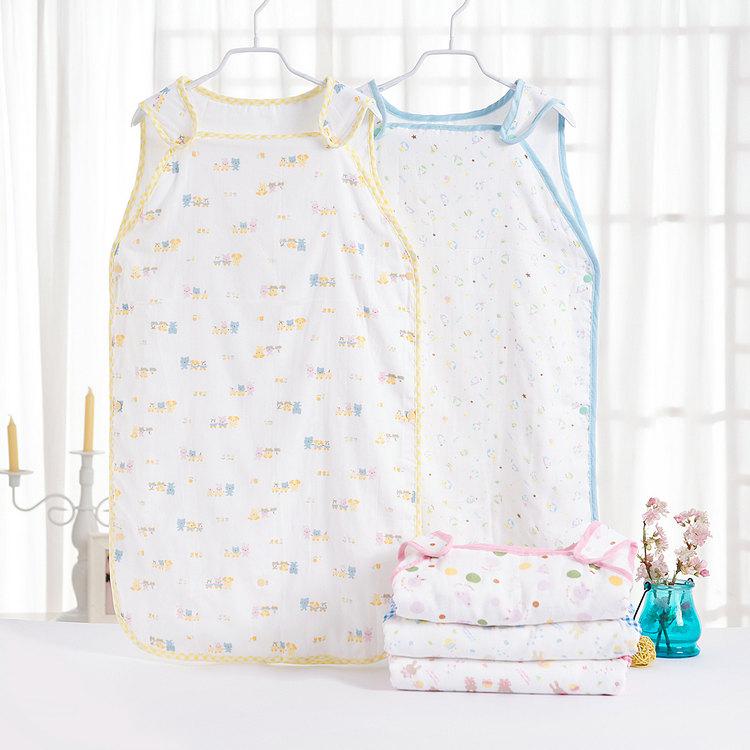 婴儿睡袋宝宝睡袋空调纱布睡袋春秋春夏季薄款分腿儿童防踢被护肚