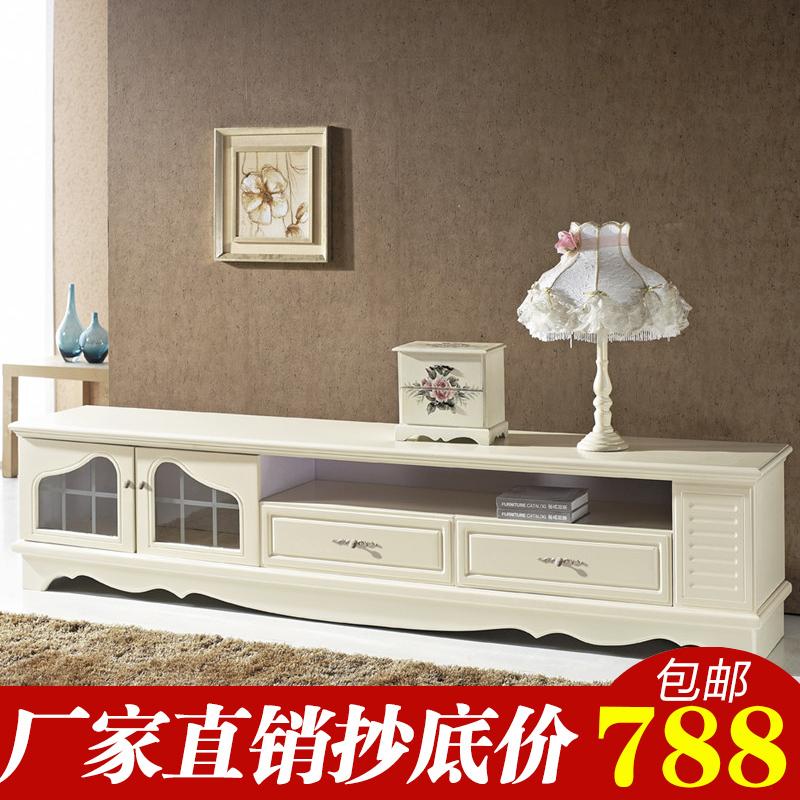 欧式电视柜茶几组合客厅组装韩式小户型客厅象牙白