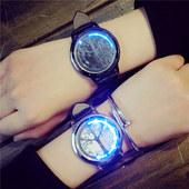 电子表韩版时尚创意LED智能触屏学生表 夜光简约皮带情侣男女潮表