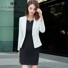 职业装女装套装秋冬新款气质两件套修身商务正装工作服白领连衣裙图片
