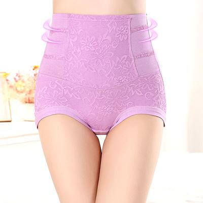 4条装慕艺薄收腹内裤女高腰纯棉裆产后提臀塑身大码紧身夏收复裤