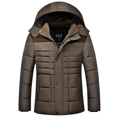 中年爸爸装冬季棉服中老年男士加厚棉衣男装冬装外套父亲大码棉袄
