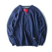 秋冬韩版加绒棒球服卫衣男套头青少年日系圆领保暖卫衣男学生外套