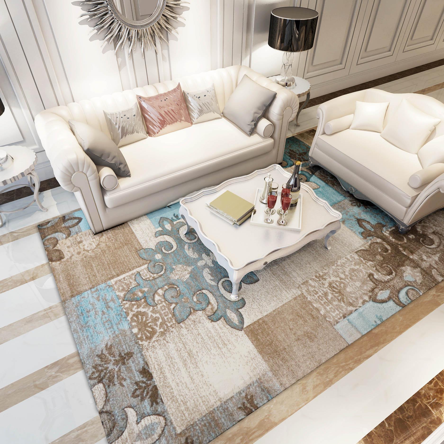 地毯客厅欧式现代简约抽象办公室书房卧室床边沙发
