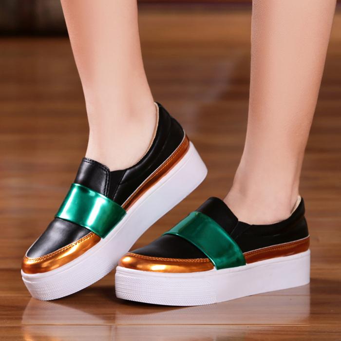 松糕厚底乐福鞋运动休闲鞋子单鞋学生韩版潮平底女鞋懒人春季