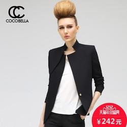 COCOBELLA2016新款不对称双层领修身小西服女休闲西装外套CT208