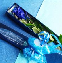 鲜花速递全国情人节单枝花束蓝玫瑰礼盒1朵一支蓝色妖姬生日送花