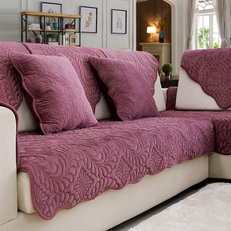 冬季毛绒简约现代四季防滑欧式皮沙发套沙发巾罩坐垫