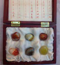 南京特产天然玛瑙雨花石木质礼品礼盒装精品原石商务高档礼品批