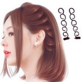 韩国发饰套装造型器蝴蝶结丸子头盘发器蓬松花苞头盘发棒编发工具