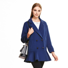 西装 领双排扣毛呢外套SD510002 OSA欧莎冬季女装
