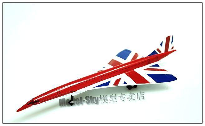 英国狗仔(CORGI) 1:400 超音速客机协和英国国旗涂装/合金成品